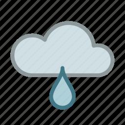 cloud, drop, forecast, rain, raining, weather, wet icon