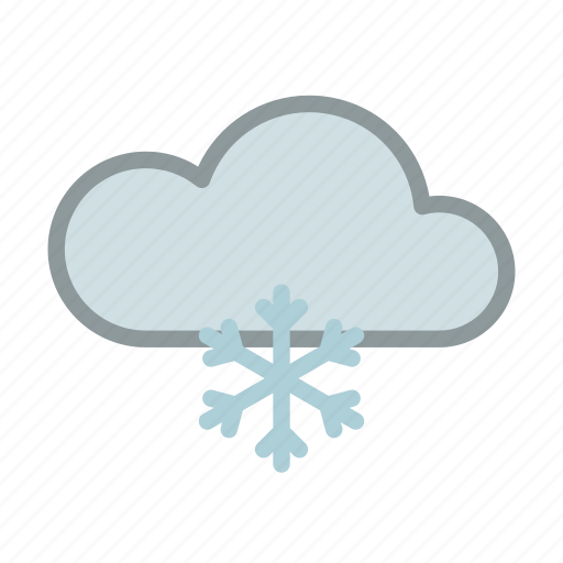 cloud, cold, forecast, ice, snow, weather icon