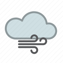cloud, cold, forecast, storm, weather, wind icon