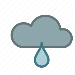 cloud, cold, drop, forecast, rain, weather icon