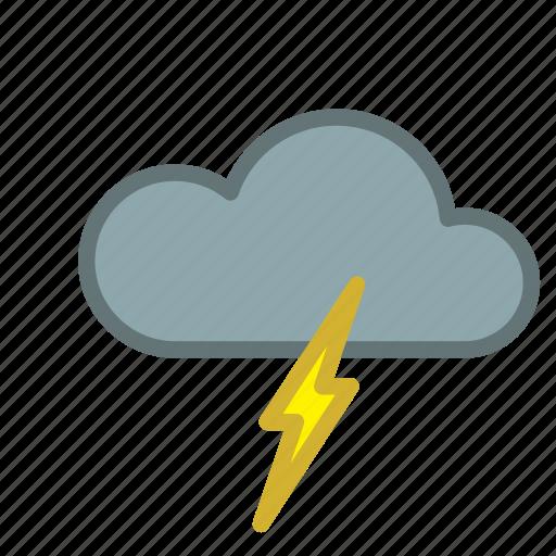 cloud, forecast, lightning, storm, thunder, weather icon