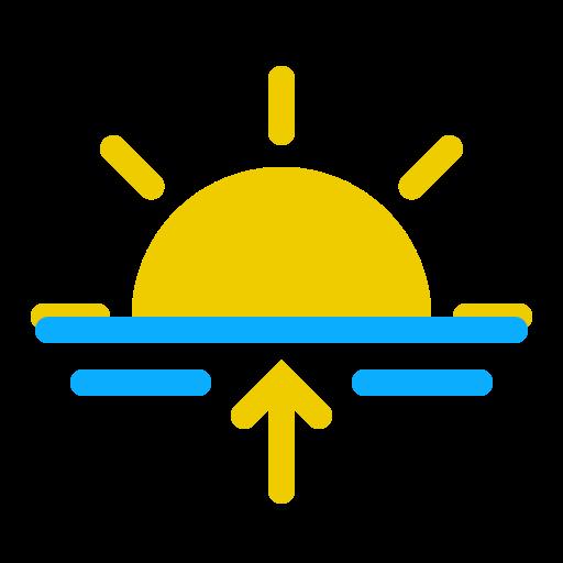 horizont, morning, sun, sunrise, weather icon