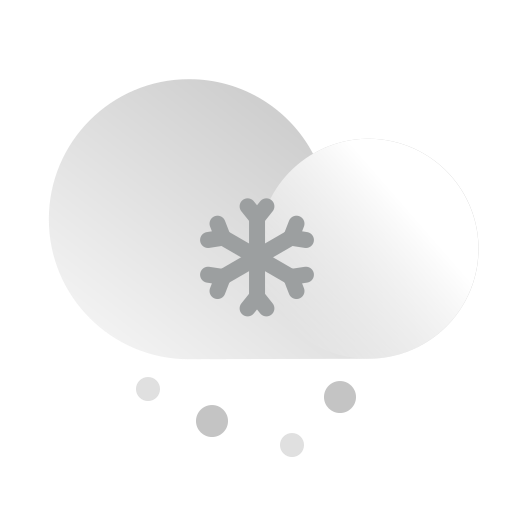 cloud, cloudy, forecast, precipitation, snow, snowing, weather icon