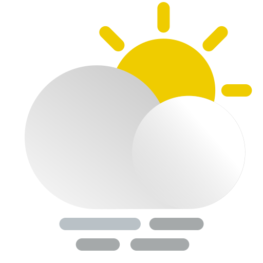cloud, coudy, day, fog, mist, sun, weather icon