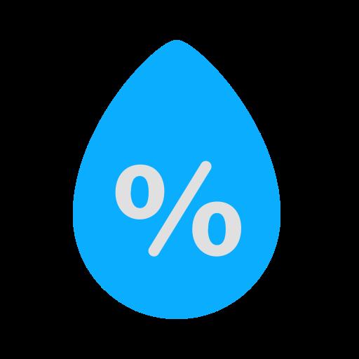 drop, high, humidity, percentage, precipitation, rain, weather icon