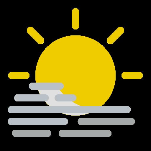 cloudy, day, fog, foggy, mist, sun, weather icon