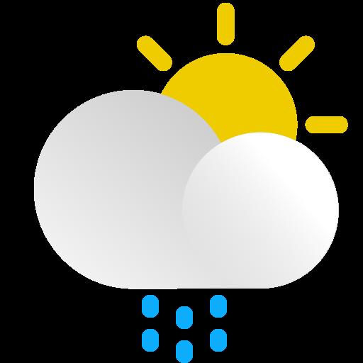 Cloud, day, precipitation, rain, snow, sun, weather icon - Free download