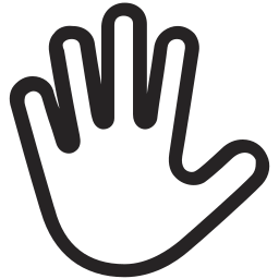 gestures, hand, interaction, stop, touch icon