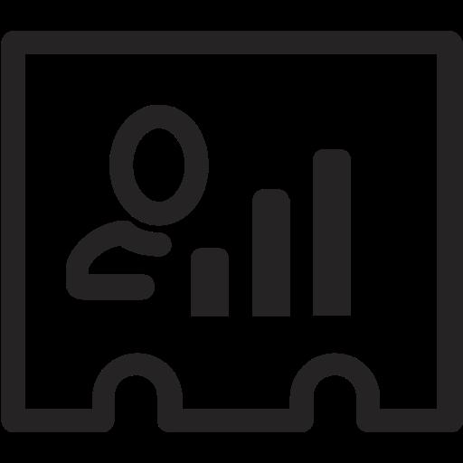 analytics, card, figures, profile, statistics icon