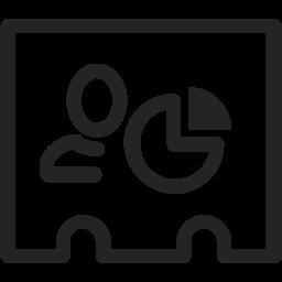 analytics, figures, profile, statistics icon