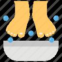 aromatherapy, beauty treatment, foot massage, foot spa, pedi cure icon