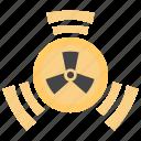 atomic, dangerous, radiation, radioactive protection, radioactive rays icon