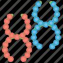 dna, dna molecule, gene, gene editing, gene structure icon
