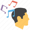 mental relaxation, music exercise, music therapy, note able music, releasing stress icon