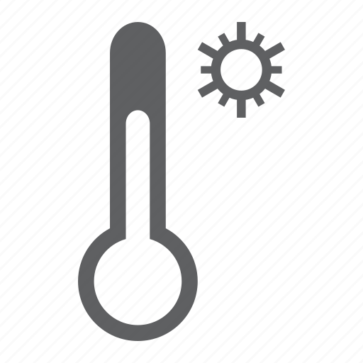forecast, hot, sun, sunny, temperature, thermometer, weather icon