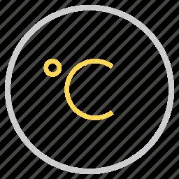 celcius, degree, forecast, measurement, reading, temperature, weather icon