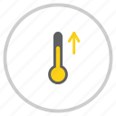forecast, high, increase, rise, temperature, thermometer, weather icon
