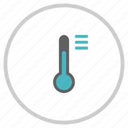 forecast, list, options, reading, temperature, thermometer, weather icon