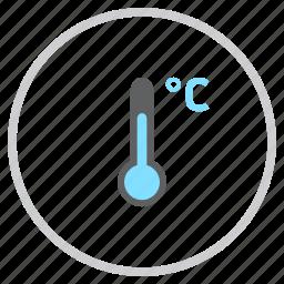 celcius, degree, forecast, reading, temperature, thermometer, weather icon