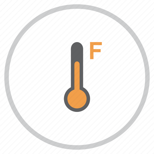 fahrenheit, forecast, measurement, reading, temperature, thermometer, weather icon