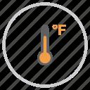 degree, fahrenheit, forecast, reading, temperature, thermometer, weather icon