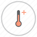 add, forecast, increase, reading, temperature, thermometer, weather icon