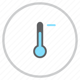 cold, forecast, minus, reading, temperature, thermometer, weather icon