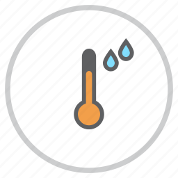 forecast, rain, rainfall, rainy, temperature, thermometer, weather icon