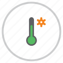 control, forecast, settings, temperature, thermometer, ui, weather icon