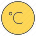 celcius, degree, forecast, temperature, thermometer, weather icon