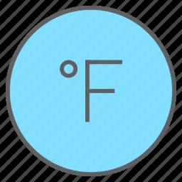 degree, fahrenheit, forecast, hot, temperature, thermometer, weather icon