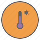 forecast, reading, sunny, temperature, thermometer, weather, windy icon