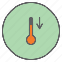 forecast, low, measure, readings, temperature, thermometer, weather icon