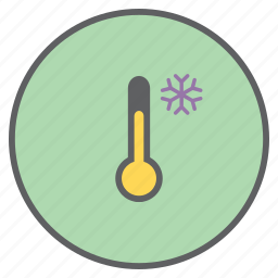 cold, forecast, low, snow, temperature, thermometer, weather icon