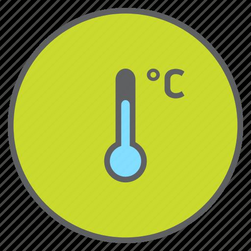 celcius, degree, forecast, temperature, thermometer, weather icon