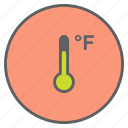 degree, fahrenheit, forecast, reading, temperature, thermometer, weather icon