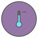 decrease, forecast, low, minus, temperature, thermometer, weather icon