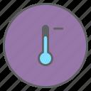 decrease, forecast, low, minus, temperature, thermometer, weather icon