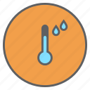forecast, rainfall, rainy, reading, temperature, thermometer, weather icon