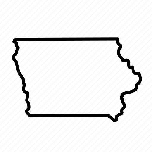 \'Thick Line US States\' by Linseed Studio