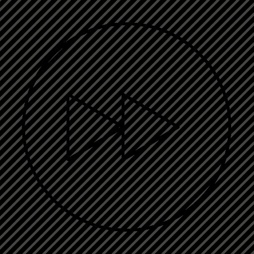 circle, fast forward, forward, media, next, skip icon