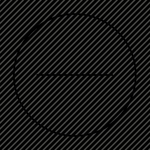 bin, circle, close, delete, minus, remove, stop icon