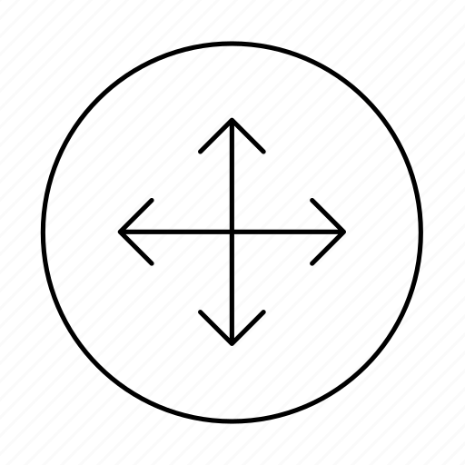arrow, circle, direction, drag, draggable, move, reposition icon