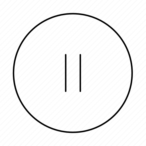circle, media, pause, pause button, stop icon
