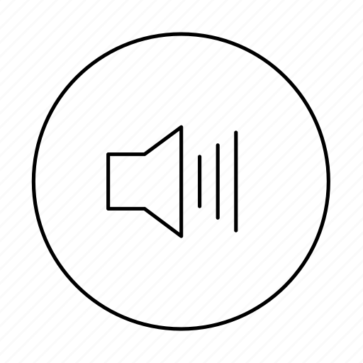 circle, high, loud, volume, volume high, volume loud icon