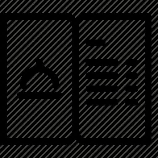 menu, restaurant icon