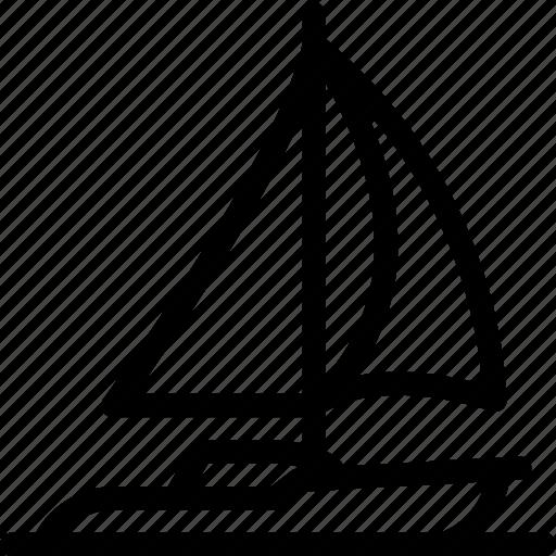 boat, sail, sailing, sea icon