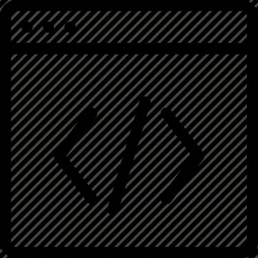 code, editor, webiste icon