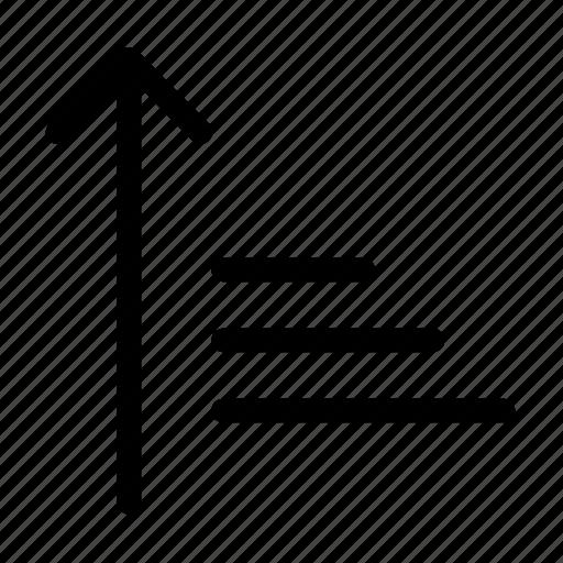 ascending, order, sort icon