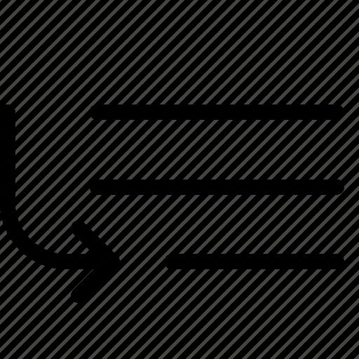 bottom, down, last, order icon